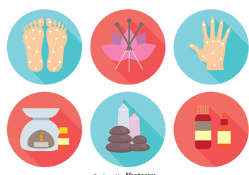 Alternative Medicine Icons Vector - vector gratuit #384379