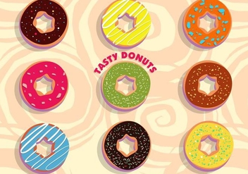 Tasty Donuts Vector - бесплатный vector #384569