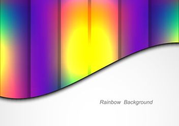 Free Vector Colorful Rainbow Background - Free vector #384609