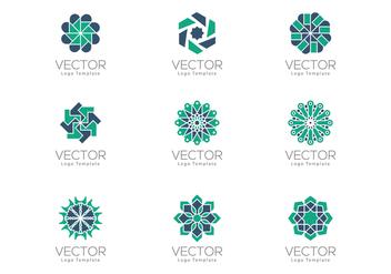 Free Geometrical Arabesque Ornamental Logo Templates - Free vector #384669