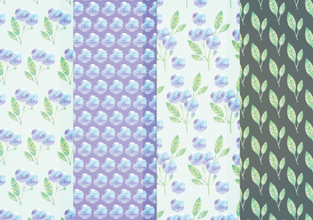 Vector Blue Floral Patterns - Free vector #384749