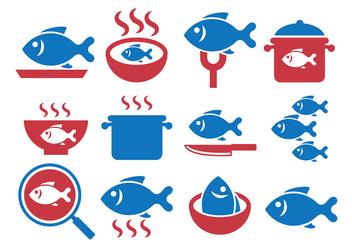 Fish Fry Vector - Free vector #384859