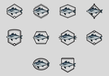 Mackerel Logo Icon Set - vector gratuit #385029