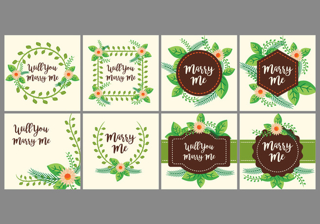 Free Marry Me Card Design Vector - Kostenloses vector #385489