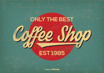 Vintage Retro Style Coffee Shop Background - Free vector #385599