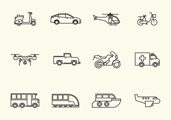 Free Vehicle Vector Icon - vector gratuit(e) #385979