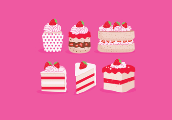 Strawberry Shortcake Vector - Free vector #386029