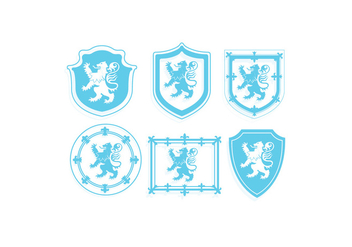 Lion Rampant Vector - Free vector #386059