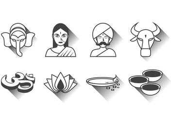 Free India Icon Vector - Free vector #386089