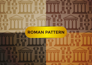 Roman Pillar Pattern Vector - Free vector #386109