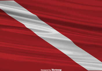 Vector Realistic Dive Flag Background - vector gratuit #386199