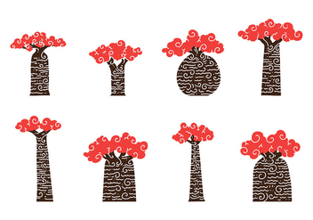 Baobab Art Vector - vector #386239 gratis