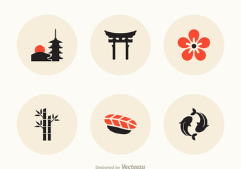 Free Japan Vector Icons - vector gratuit #386279
