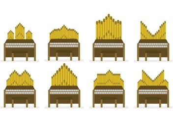 Free Pipe Organ Vector Set - Free vector #386299