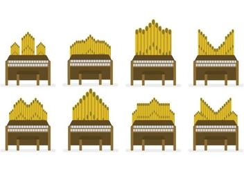Free Pipe Organ Vector Set - vector #386299 gratis