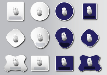 Mouse Pad basic design - Free vector #386319