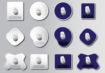 Mouse Pad basic design - vector #386319 gratis