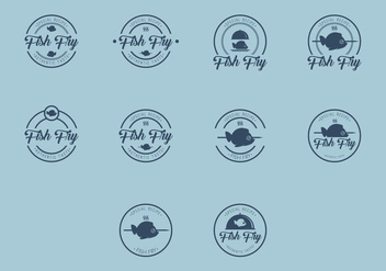 Fish Fry Logo Icon - vector gratuit #386499