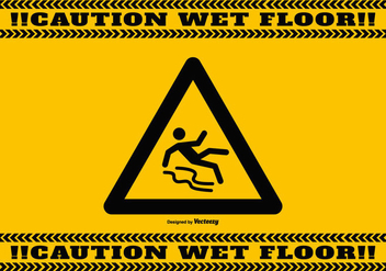 Wet Floor Caution Background - vector gratuit #386729