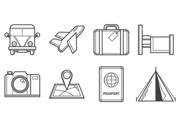 Free Travelling Icon Vector - Free vector #386829