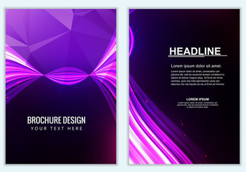 Free Vector Purple Brochure Background - Kostenloses vector #386879