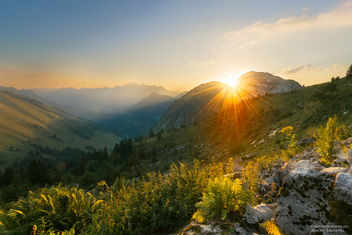 Sunrise over the Mountains - image #387169 gratis
