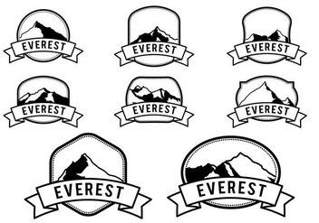 Free Hipster Everest Vector Logo Template - Kostenloses vector #387259