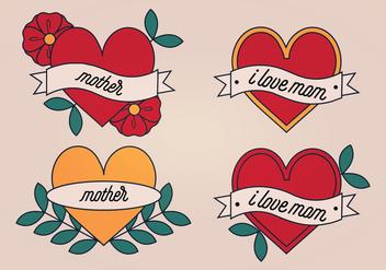 Vector Mom Tattoo - Free vector #387269
