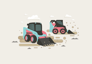 Skid Steer Vector - бесплатный vector #387319
