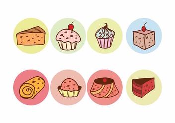Free Raisins Cake Vector Set - Kostenloses vector #387329