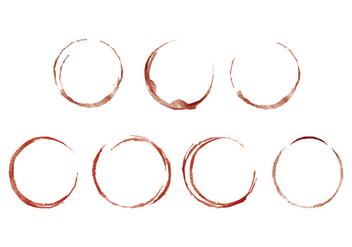 Watercolor Wine Stain - Free vector #387369