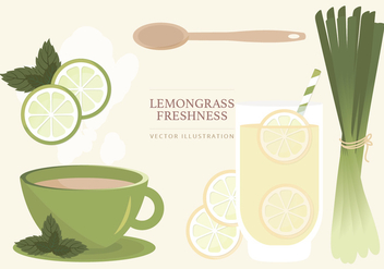 Lemongrass Vector Illustration - vector gratuit #387399