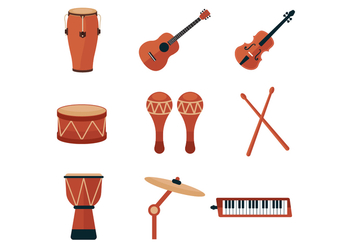 Free Music Instrument and Percussion Icons - Kostenloses vector #387409
