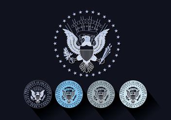 Presidential Seal Vector - Free vector #387519