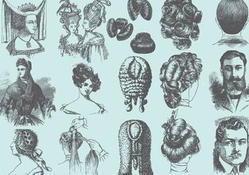 Vintage Coiffures - Free vector #387699