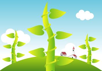 Free Beanstalk Vector Landscape - Kostenloses vector #387789