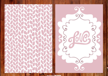 Cute Hand Drawn Wedding Cards - vector gratuit #387839