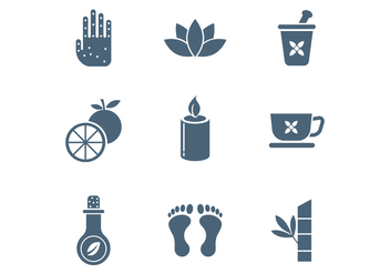 Free Spa and Relaxation Vector Icons - Free vector #387949