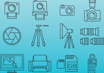 Professional Photography Icons - Free vector #388089