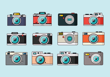 Vintage Cameras Collection - бесплатный vector #388099