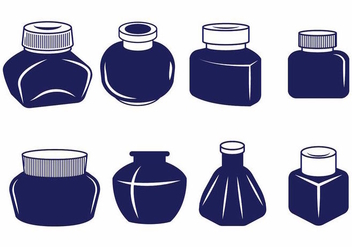 Ink Pot Set - vector #388209 gratis