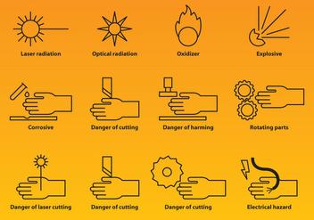 Industry Warning Icons - vector #388259 gratis