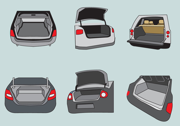 Car Boot Illustration Vector - Kostenloses vector #388269