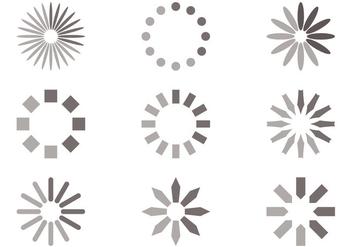 Circle Preloader Vector Set - Free vector #388279