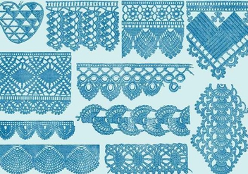 Vintage Lace Samples - vector gratuit #388619