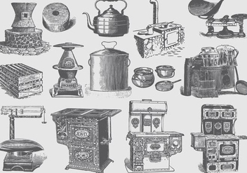 Vintage Kitchen Items - Free vector #388629