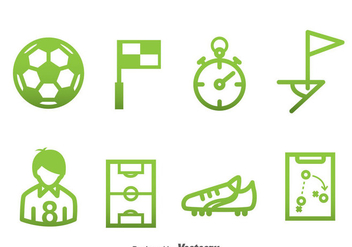 Soccer Element Green Icons - Free vector #388719