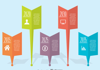 Flat Timeline Infographic Vector - Free vector #388789