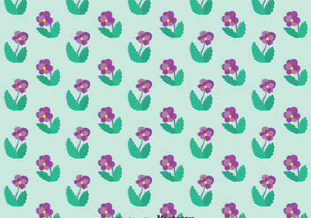 Purple Pansy Flower Pattern - vector gratuit #388809