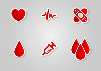 Blood Drive Icon Vector Set - vector gratuit(e) #388839